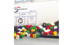 Critchley Z-Type Colour Coded Straight Cut Z5 Cable Markers Boxed 1.5-2.0mm Dia.