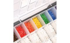 Critchley Z-Type Colour Coded Straight Cut Z18 Small Cable Marker Kit - 18 Compartment Box