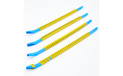 Easi-Clip STD Clip-on Cable Marker EC06 Size 1.5 - 3.4mm² - Black on Yellow