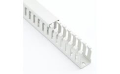 Betaduct Light Grey Halogen-Free Narrow Slot ABS Trunking