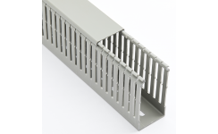 Betaduct PVC Metric Narrow 4mm Open Slot - Grey