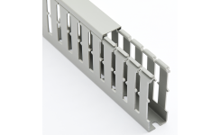 Betaduct PVC Metric Trunking 8mm Open Slot - Grey