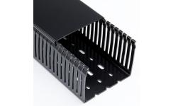 Betaduct 25x75 Black Narrow Slot Trunking 16m (8 x 2m)