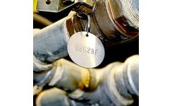 Stainless Steel Valve Tag 38mm Disc - Engraved To Your Specification