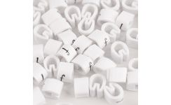 Critchley Black on White Lower Case Z18 Z-Type Rail Cable Markers