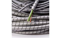 Low Smoke & Fume Flame Retardant Spiral Binding - Grey