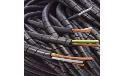 Critchley (LDPE) Spiral Cable Binding - Black & Natural