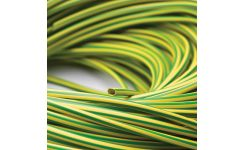 Green/Yellow Low Smoke & Fume (LSF) Sleeving - Coils