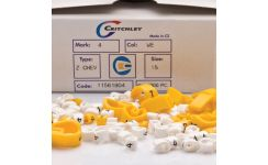 Critchley Z-Type Black on White Chevron Cut Z5 Cable Markers Boxed 1.5-2.0mm Dia.