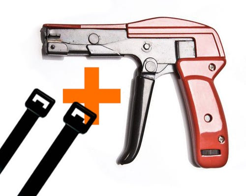 Cable Tie Gun & Nylon Ties Bundle